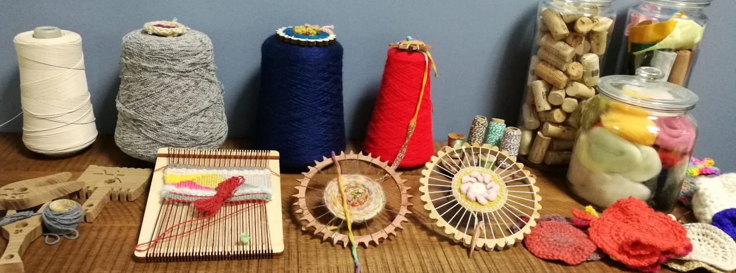 SSU Maker Space weaving display