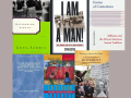 A collage of six different books from SSU faculty
