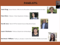 "Speakers for the ""Gender, Race, & The History of Voting in America"" webinar event."