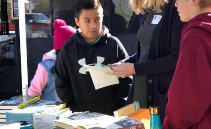 In collaboration with a Sonoma State Grad service-learning class and the City of Santa Rosa, books were distributed for free for the Santa Rosa youth during the event January 20, 2018
