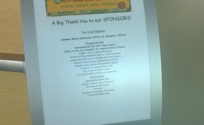 Stand outside of the panel discussion thanking all of it's sponsors.