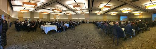 Crowd seated in an SSU ballroom
