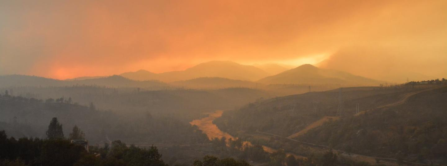 Fire in the sonoma hills