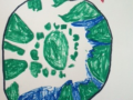 First graders made posters to pass on what they learned about ecology to their schoolmates.