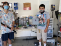 Nathan Candler and Andres Rivera engineering the Greenhouse Project device.